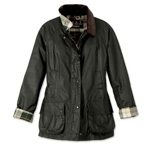 Like New Barbour Beadnell Wax Jacket Sage